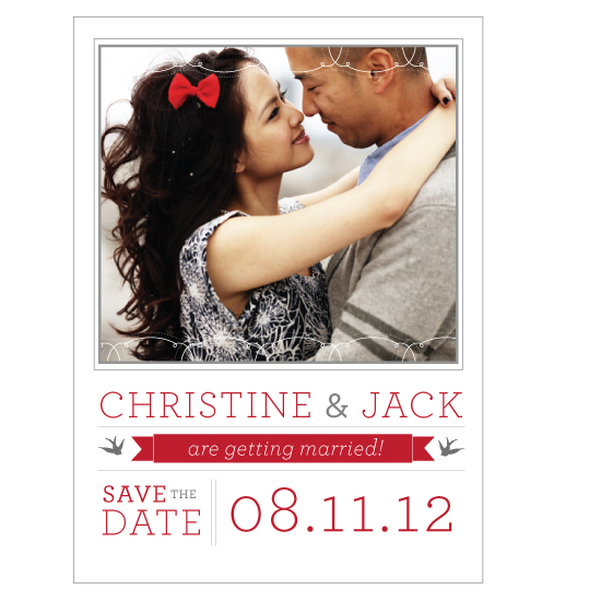 save the date cards - Simple Lace Photo Save the Date by Rachel King