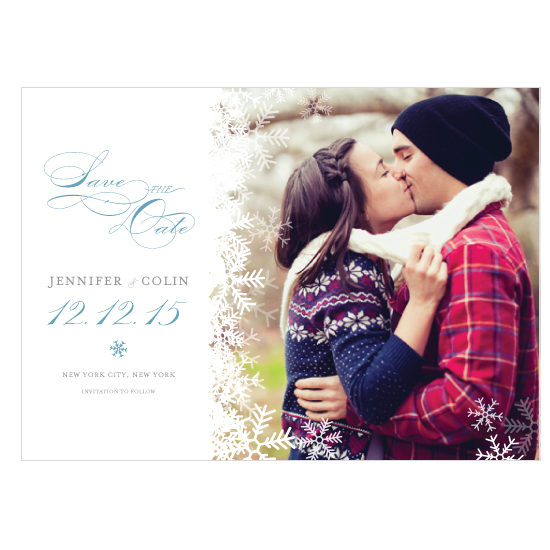 save the date cards - Winter Wonderland Photo Save the Date by Rachel King