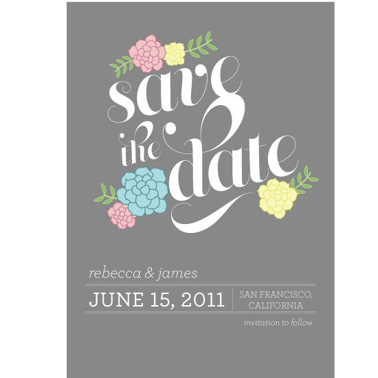 save the date cards - Succulent Save the Date by Rachel King