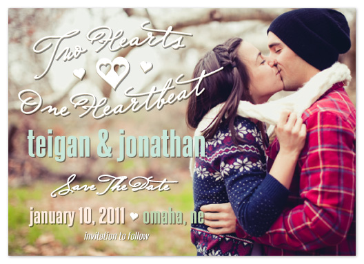 save the date cards - One Heartbeat by Timothy Layne