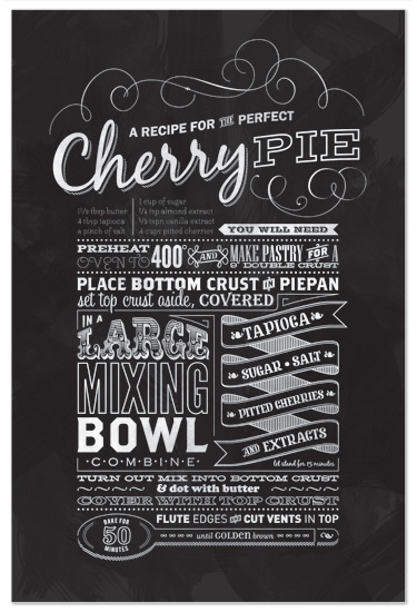 art prints - Cherry Pie by The Fine Letter Co.