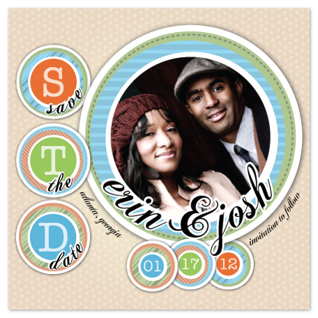 save the date cards - Retro STD Circles by Timothy Layne