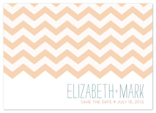 save the date cards - Chevron Sketching by Mikaela Ehly