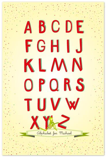 art prints - Alphabet by Tereza Šašinková Lukášová