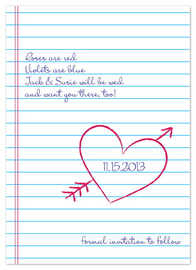save the date cards - Love Poem by Kim Dietrich Elam