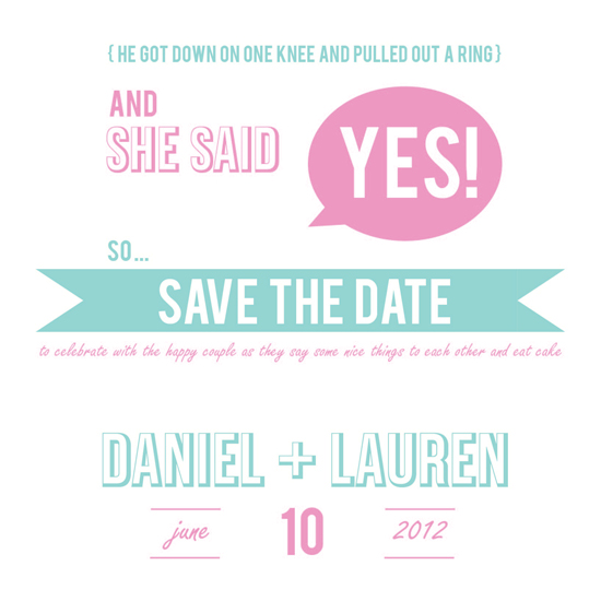 save the date cards - She Said YES! by Sarah Nelson