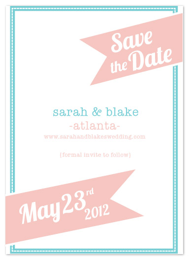 save the date cards - Sorbet Sash by paper ink.