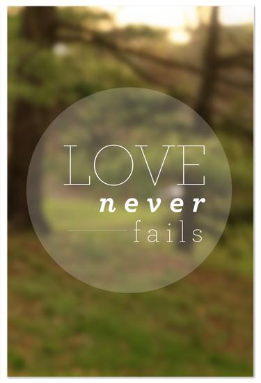 art prints - Love Never Fails by Becky Enser