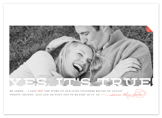 save the date cards - Yes, it's true by Jana Volfova