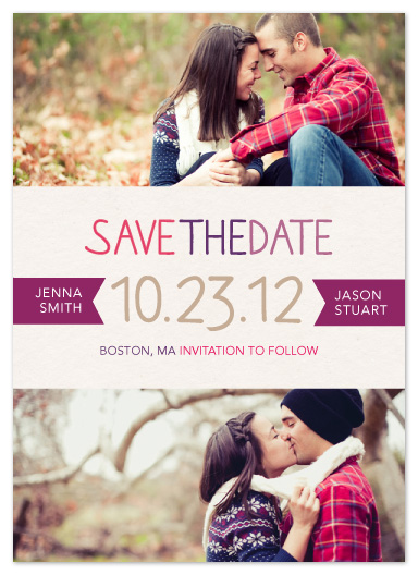 save the date cards - Center of Attention by Ana Gonzalez