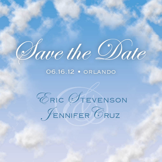save the date cards - Love in the Clouds by berberlita