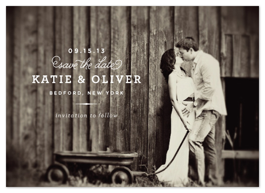 save the date cards - Timeless by Oscar & Emma
