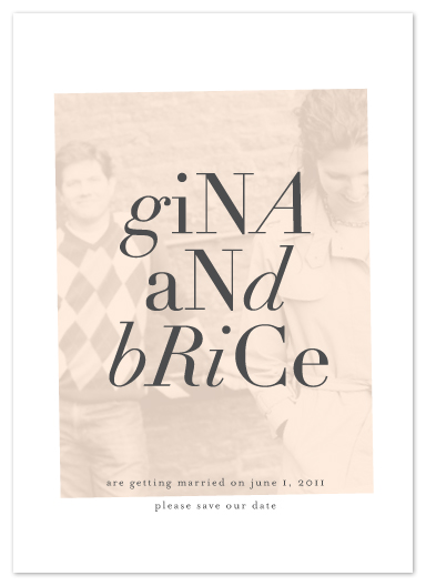 save the date cards - fondly stated by kelli hall
