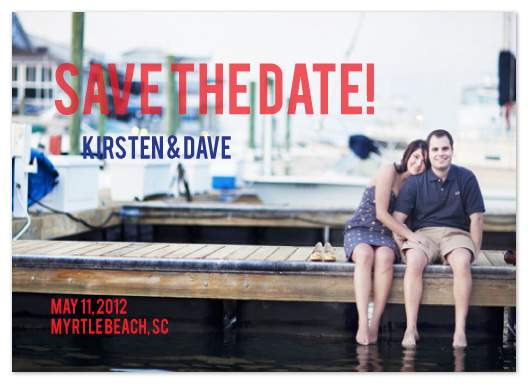 save the date cards - nautical nuptials by Elizabeth Harris
