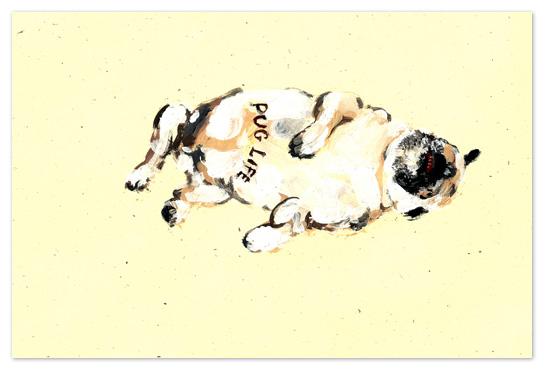 art prints - pug life by rene mijares