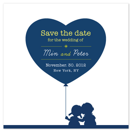 save the date cards - Big Heart by Min Lee