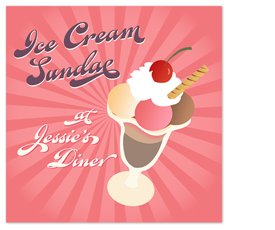 art prints - Ice Cream Sundae by Designkandy