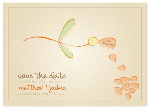 save the date cards - She Loves Me by Kim Nelson