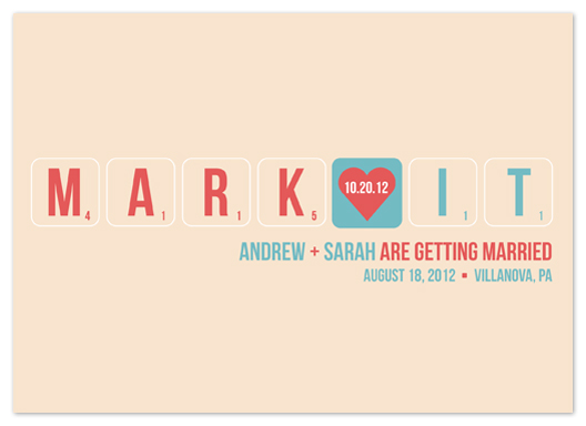 save the date cards - Word Play by Kristin Haley