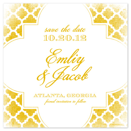 save the date cards - Golden Trellis by Jill Zielinski Designs