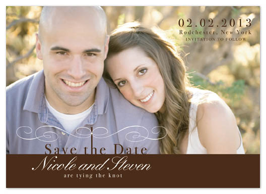 save the date cards - Tying the fancy knot by Nina Johnson