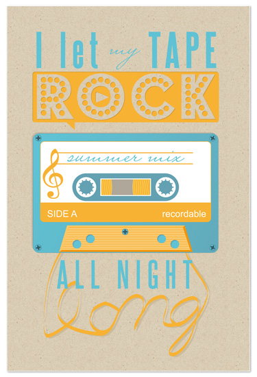 art prints - I let my tape rock by My Splendid Summer