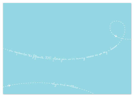 save the date cards - Fly With Us by Makai Studios
