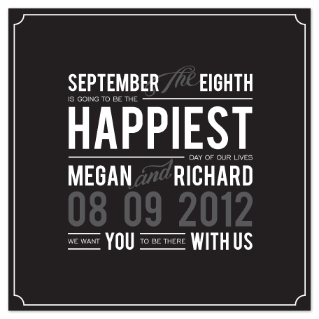 save the date cards - Happy Days by Makai Studios