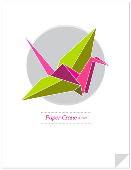 art prints - Origami Paper Crane by Ksenia Phillips