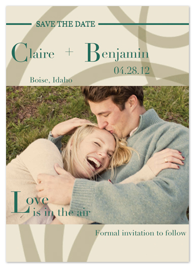 save the date cards - Love is in the Air by Katie Escobar