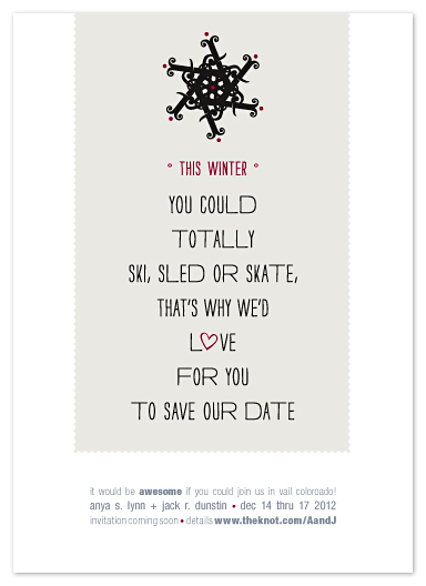 save the date cards - Poem to Our Peeps at Minted.com