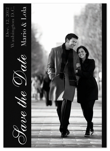save the date cards - City Sidewalk by Katie Escobar