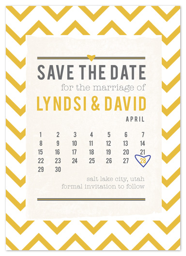 save the date cards - Friendly Chevron by KT