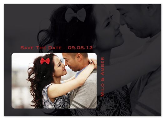 save the date cards - Double Lovin' by Katie Escobar
