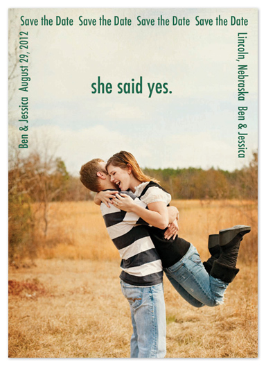 save the date cards - She Said Yes by Katie Escobar
