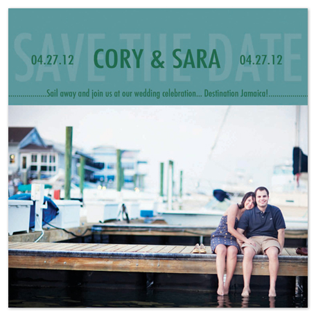 save the date cards - Sail Away by Katie Escobar