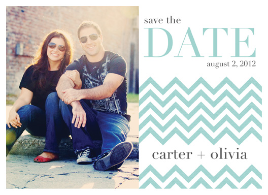 save the date cards - Spring Chevron by design by lulu