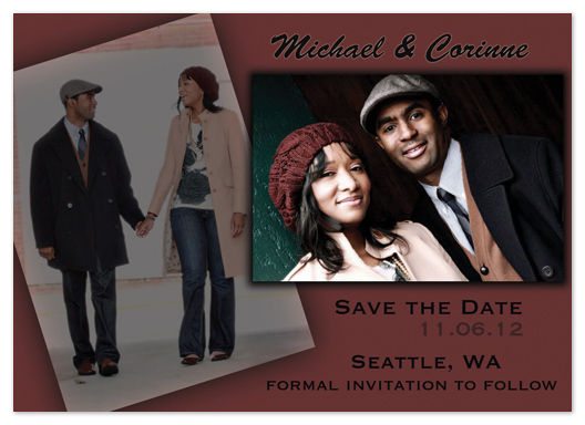 save the date cards - The Layered Look by Katie Escobar