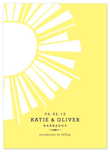 save the date cards - Sunshine by Oscar & Emma