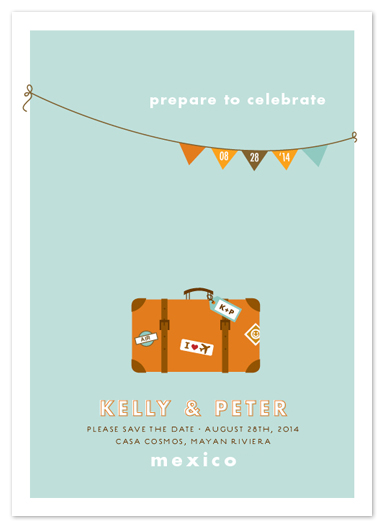 save the date cards - prepare to celebrate by Jana Volfova