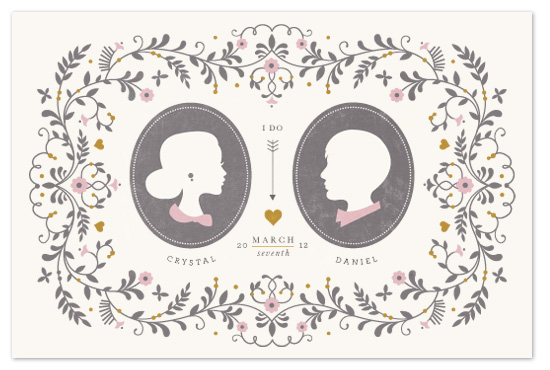 art prints - wedding silhouette by Kristen Smith