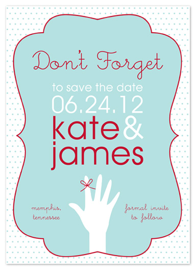 save the date cards - Ribbon On Your Finger by Jill Zielinski Designs