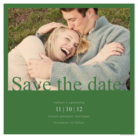 save the date cards - Classic Color Times by Emily Ford