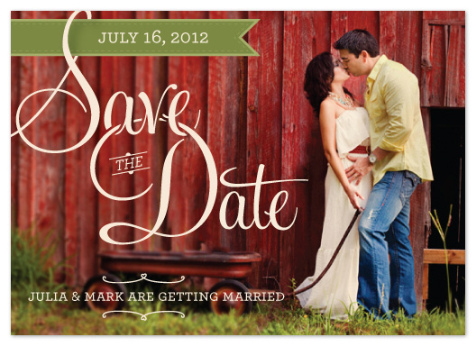 save the date cards - A Fine Night - Simple Type by Mikaela Ehly