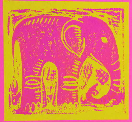 art prints - Pink Elephant by Karob