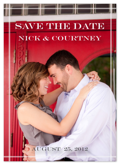 save the date cards - perfectly framed by Elizabeth Harris