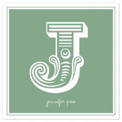 Whimsical Initial Name Print