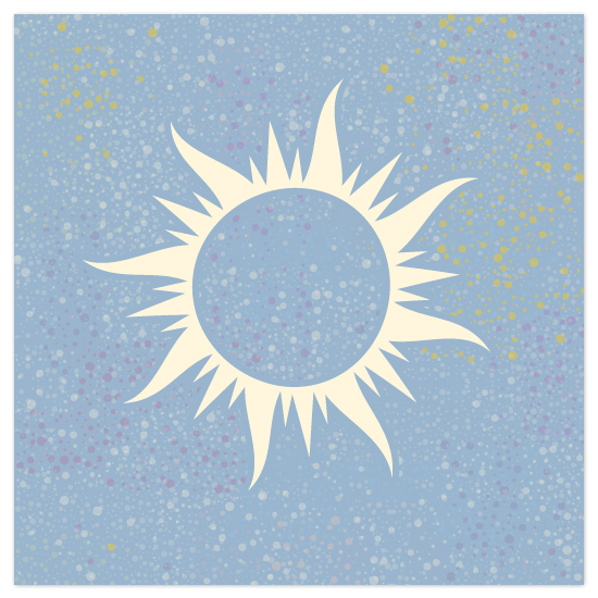 art prints - Celestial Sun by Katherine Morgan