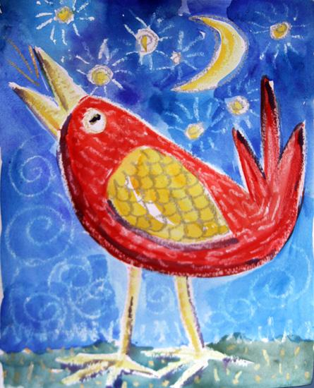 art prints - Night Bird by Karob
