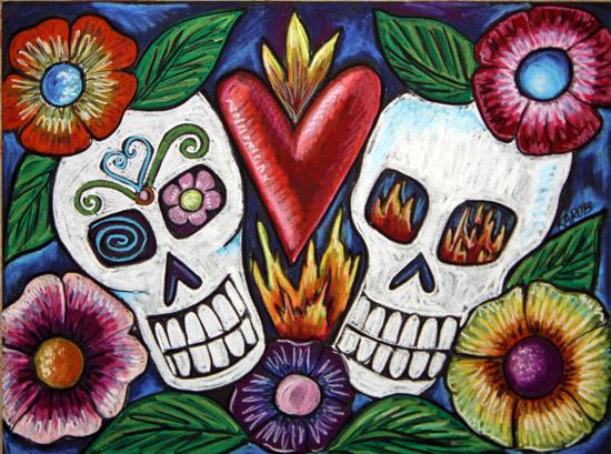 art prints - Dia De Los Muertos #1 by Karob